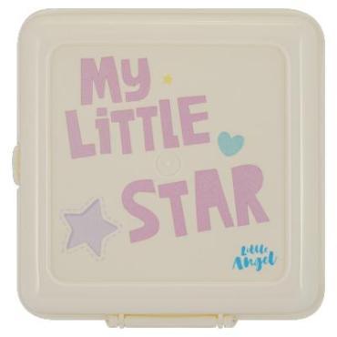 Ланч-бокс LA5116, Little Angel Lettering, 185 гр., пластиковая упаковка