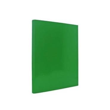 Папка с прижимным механизмом ламинированная зеленая, Index, 300 гр.