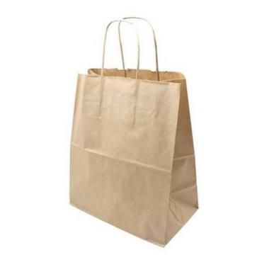 Пакет бумажный коричневый с кручеными ручками 260*150*350 мм., 25 шт.