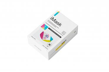 Многоразовая маска iMask с комплектом сменных фильтров iFilter keep calm розовая (design series) M