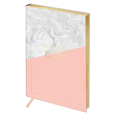 Записная книжка А6 80л. ЛАЙТ, кожзам, Greenwich Line Vision. Marble, тон. блок, золот. срез