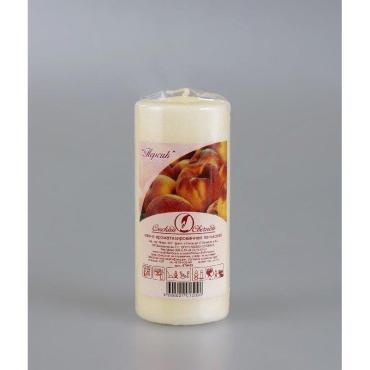 Свеча-пенек ароматизированная Персик h 115 мм., d 50 мм., Омский cвечной завод, 215 гр., пластиковый пакет