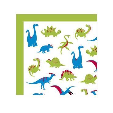 Салфетки 2-х слойные Динозаврики, 33х33 см., 20 шт., Мистерия, 50 гр., пластиковый пакет