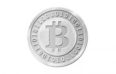 Шоколадные монеты 500 х 6 гр. Bitcoin молочный шоколад,  серебро, 6 гр., картонная коробка