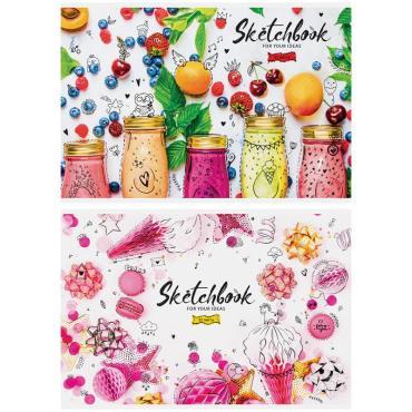 Альбом для рисования 32л., А4, на скрепке ArtSpace Стиль. Bright sweets