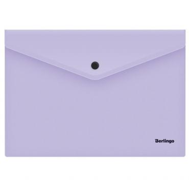 Папка-конверт на кнопке Berlingo Instinct, А4, 180мкм, лаванда