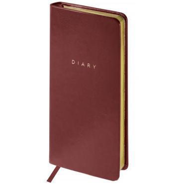 Еженедельник недатированный, карманный, 64л., кожзам, OfficeSpace Windsor, коричневый, зол.срез