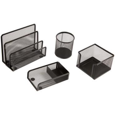 Настольный набор из металла Berlingo Steel&Style, 4 предмета, черный