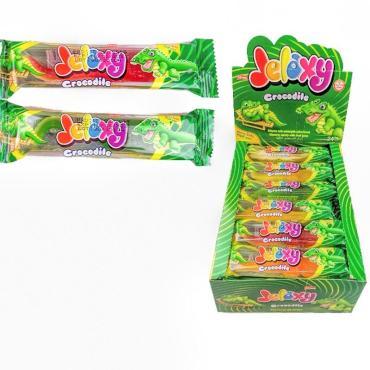 Жевательный мармелад с фруктовым соком Jelaxy Crocodile Крокодил, 20 гр., сашет