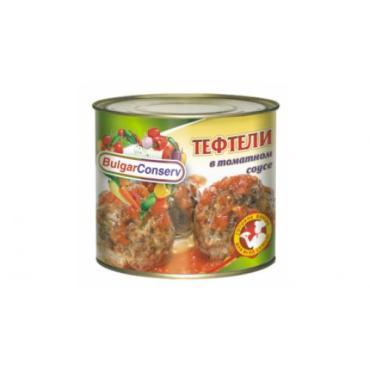 Тефтели в томатном соусе BulgarConserv, 545 гр., жестяная банка