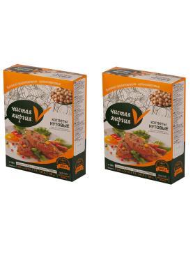 Котлеты вегетарианские Нутовые RICOS, 300 гр., картонная коробка