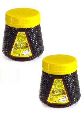 Набор гречишного меда Бийский пчелоцентр, 350 гр., пластиковая банка