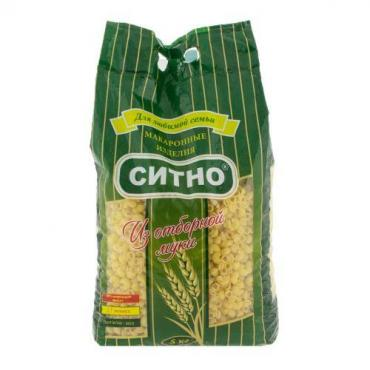 Макароны Улитки Ситно, 5 кг., картонная коробка
