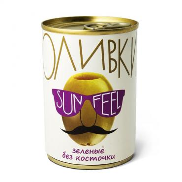 Оливки зеленые Sun Feel, 300 мл., жестяная банка
