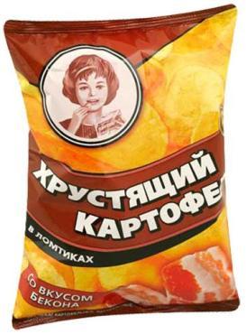 Чипсы бекон Девочка, 70 гр., флоу-пак