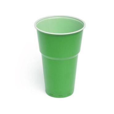 Стакан для холодных напитков зелён., белый, ПП., картон, 500 мл., 6 шт., Мистерия, 50 гр., пластиковый пакет