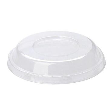 Крышка одноразовая пластиковая ТЕФО прозрачная, d=128 мм., картон