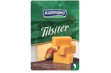 Сыр Тильзитер, слайсерная нарезка 50%, Киприно, 125 гр., пластиковая упаковка