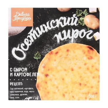 Пирог осетинский с картофелем и сыром, Давняя Традиция, 450 гр., картонная коробка