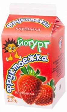 Йогурт УОМЗ Клубника питьевой 2,5%