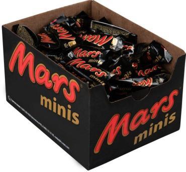 Конфеты развесные, minis, Mars ,6 кг., коробка