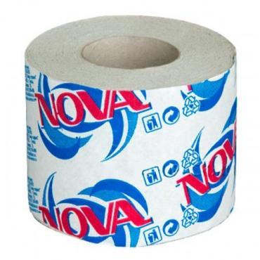 Бумага туалетная со втулкой Nova, бумажная упаковка