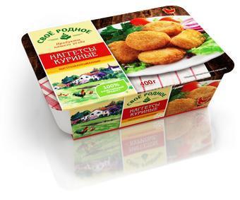 Наггетсы куриные , Свое родное, 400 гр., пластиковая упаковка