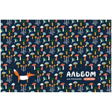 Альбом для рисования 40л., А4, на скрепке ArtSpace Узоры. Лесная сказка