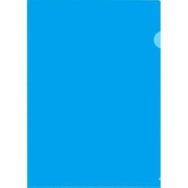 Папка уголок , 150 мкм, синий 10шт/уп Россия