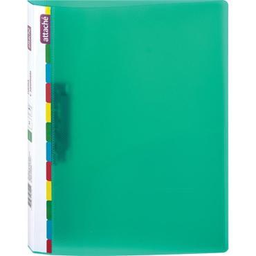 Папка с зажимом Attache Diagonal зеленый