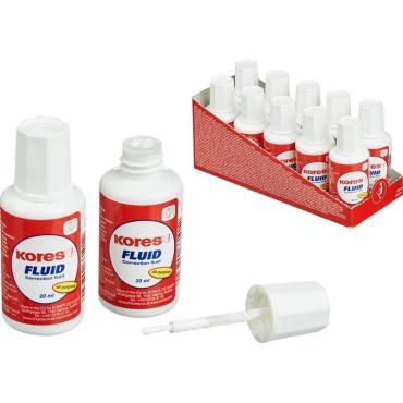 Корректирующая жидкость KORES FLUID 20мл на быстросохн осн, кисточка66118