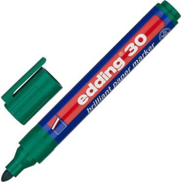 Маркер пигментный EDDING E-30/004 зелёный 1,5-3 мм  круг. наконечник