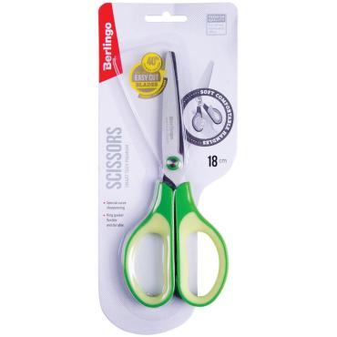 Ножницы Berlingo Smart tech Premium, 18см, зеленые, европодвес