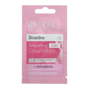 Крем-флюид для лица дневной, разглаживающий, Revuele, Bioactive Skincare, 3D Hyaluron +Antioxidants 7 мл., сашет