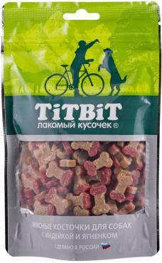 Лакомство для собак Косточки мясные с индейкой и ягненком, 145 гр., дой-пак
