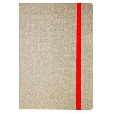Ежедневник недат.Attache А5,146х214мм,128л, Юта бежев,рез/срез красный