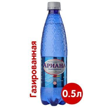 Вода столовая питьевая, газированная Ариана, 500 мл., ПЭТ