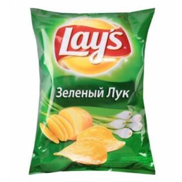 Чипсы со вкусом, Зеленого лука, Lay's, 90 гр, пакет