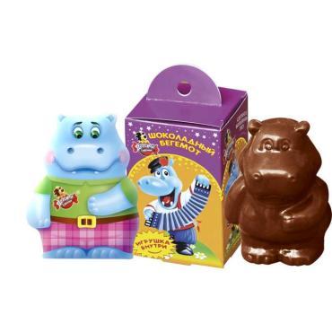 Шоколадный бегемот с сюрпризом Славянка Детский сувенир, 44, 5 гр., картонная коробка