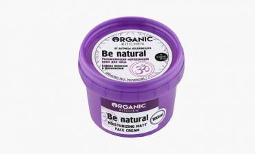 Крем для лица увлажняющий матирующий Organic Kitchen be natural, 100 мл., пластиковая банка