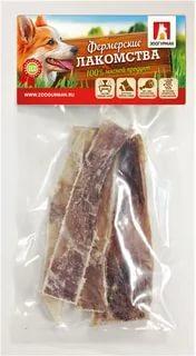 Лакомства хрящ лопаточный, нарезка Зоогурман Лакомства Фермерские, 50 гр., пластиковый пакет