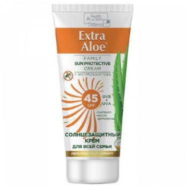 Крем солнцезащитный для всей семьи SPF 45 Vilsen Extra Aloe, 100 мл., пластиковая туба