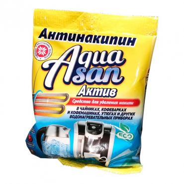 Средство для удаления накипи Aquasan Актив, 70 гр., флоу-пак