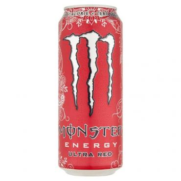 Энергетический напиток Monster Energy Ultra Red Zero без сахара, 500 мл., жестяная банка
