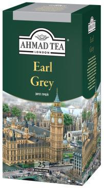 Чай черный 25 пак., Ahmad Tea Earl Grey, 50 гр., картонная коробка