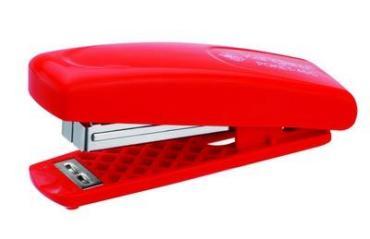 Скобосшиватель красный до 12 листов, скоба 24/6 Kangaro Poket-45 С, картонная коробка