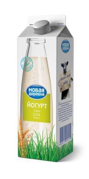 Йогурт злаки 2,5% Новая Деревня, 700 гр., тетра-пак