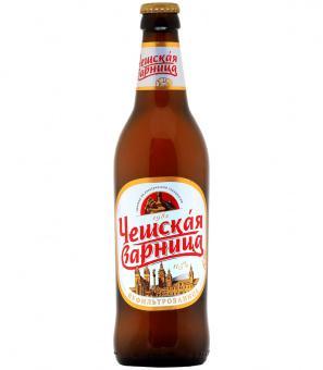 Пиво светлое нефильтрованное Крым Чешская Варница 500 мл., стекло