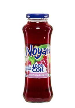 Сок яблоко-вишня, с 3 лет, Noyan, 250 мл., стекло