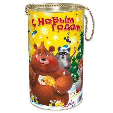 Новогодний подарок Яркий день Красный Октябрь 800 гр., жестяная банка